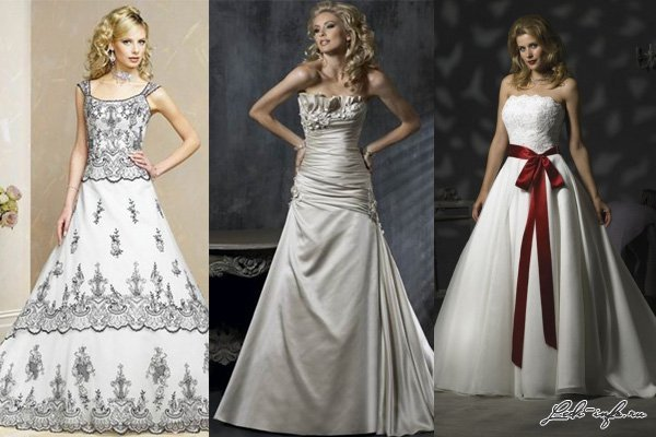 На фото мода на свадебные платья в 2013