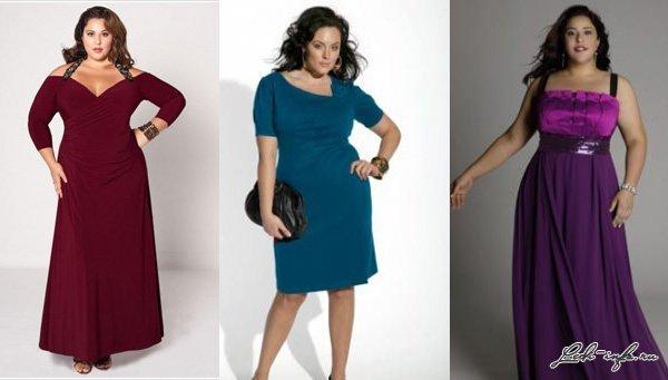 красивые платья фото для полных
