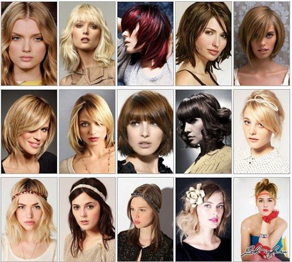модные прически на стредние волос 20011